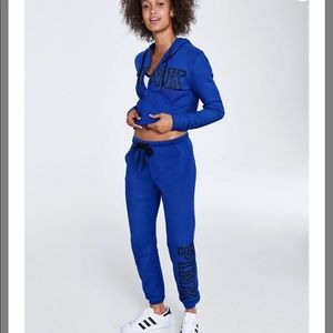 Medium PINK Full Zip Hoodie and Jogger Pants